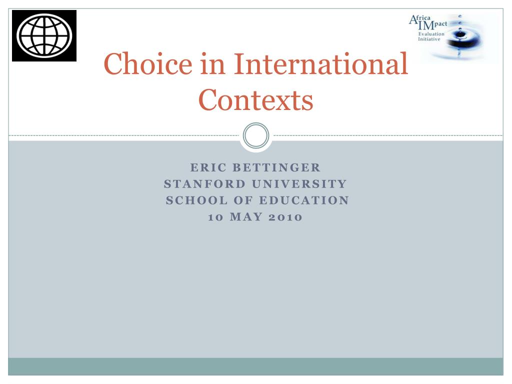 choice in international contexts l.