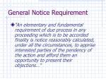 general notice requirement