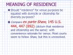 meaning of residence27