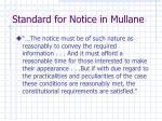 standard for notice in mullane