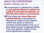 venue for corporations section 1391 a b c