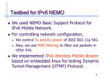 testbed for ipv6 nemo