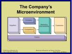 the company s microenvironment6