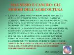 magnesio e cancro gli errori dell agricoltura42