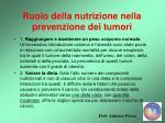 ruolo della nutrizione nella prevenzione dei tumori31