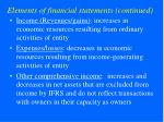 elements of financial statements continued