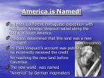 america is named