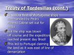 treaty of tordesillas cont