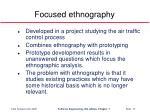 focused ethnography