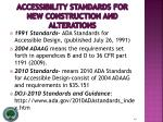 accessibility standards for new construction and alterations