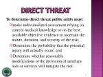 direct threat8
