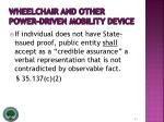 wheelchair and other power driven mobility device31