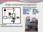 single crystal diamond deposition