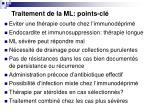 traitement de la ml points cl