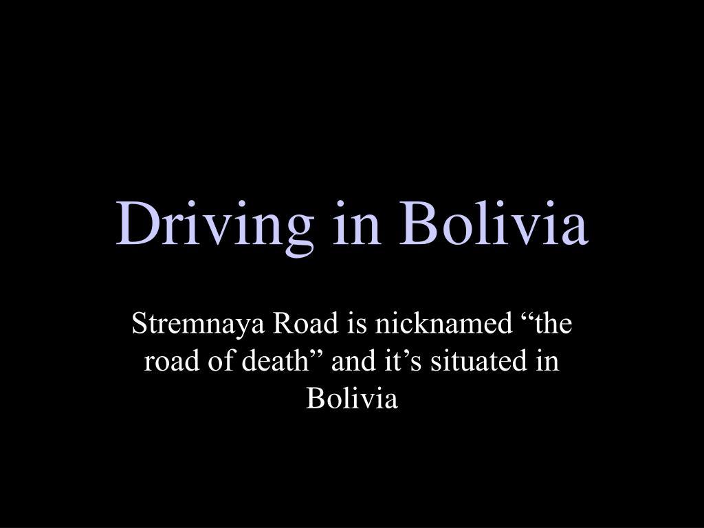 driving in bolivia l.
