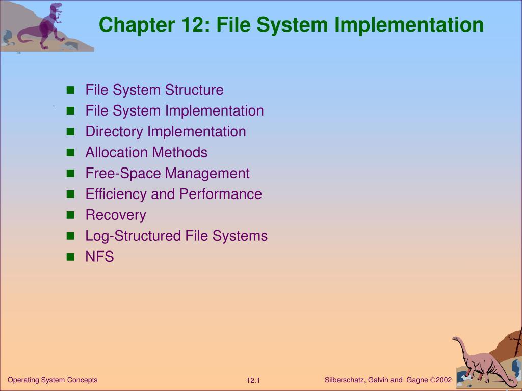 chapter 12 file system implementation l.