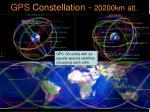 gps constellation 20200km alt