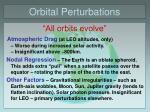 orbital perturbations