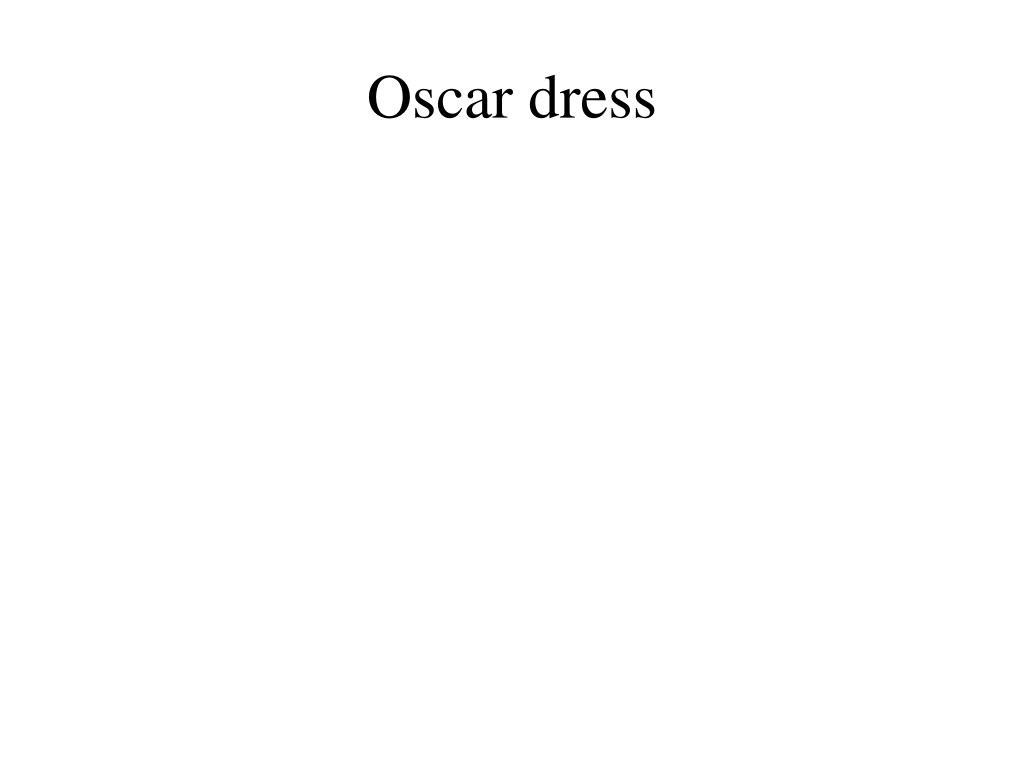 oscar dress l.