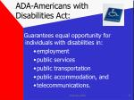 ada americans with disabilities act