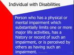 individual with disabilities