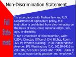 non discrimination statement