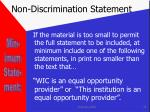 non discrimination statement25