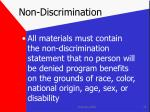 non discrimination