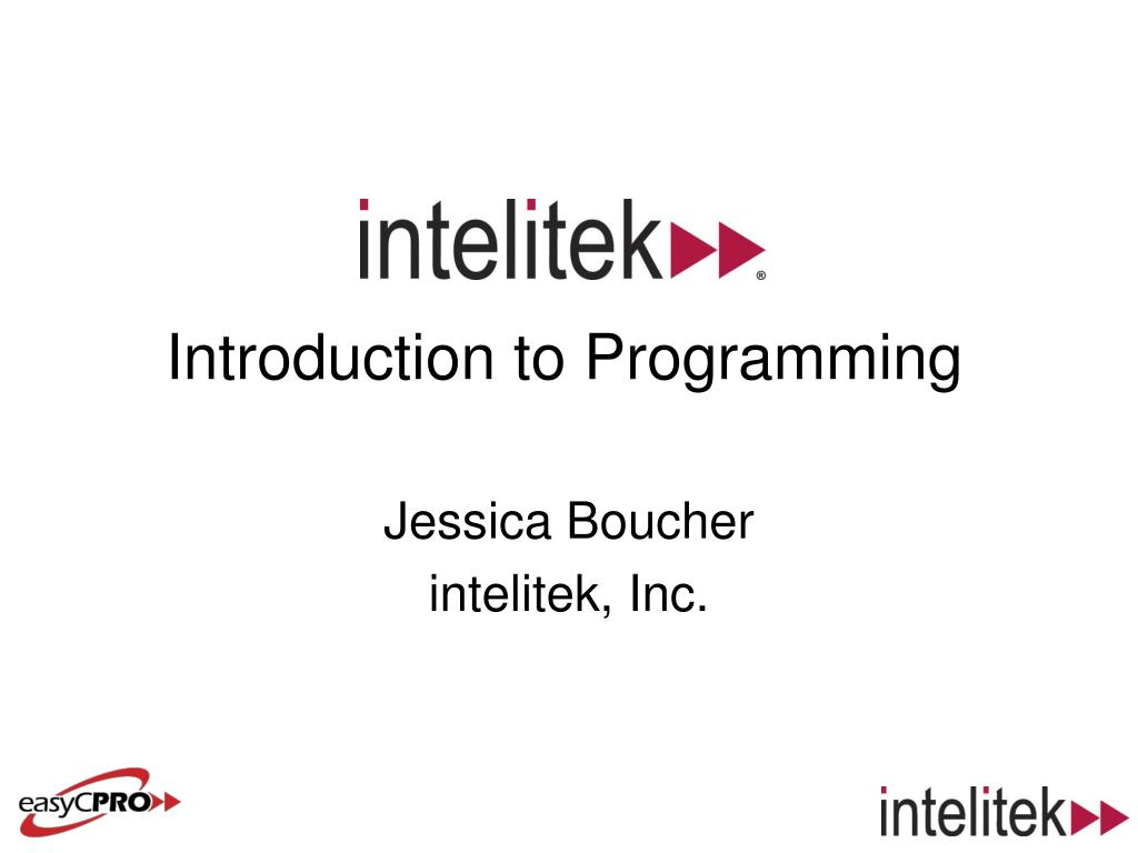 introduction to programming l.