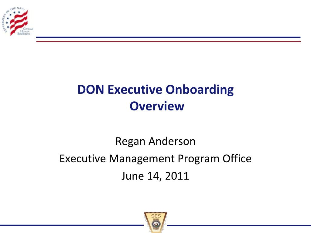 don executive onboarding overview l.