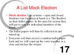 a list mock election