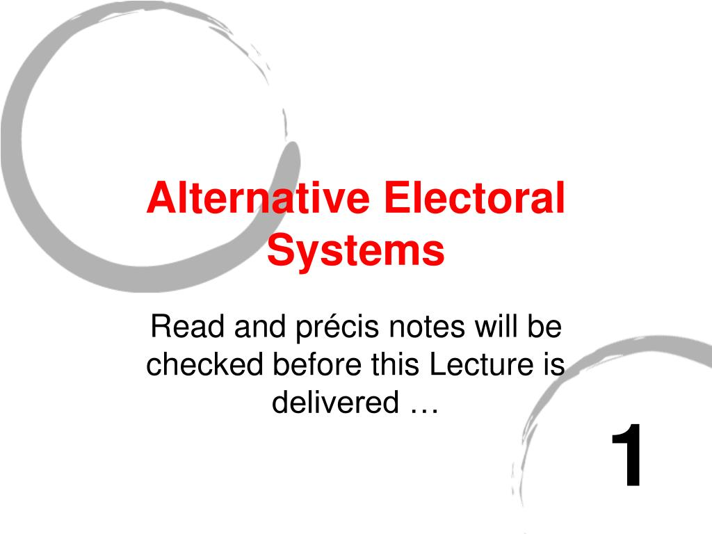 alternative electoral systems l.