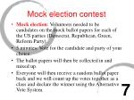 mock election contest