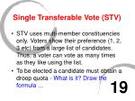single transferable vote stv