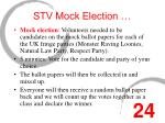 stv mock election