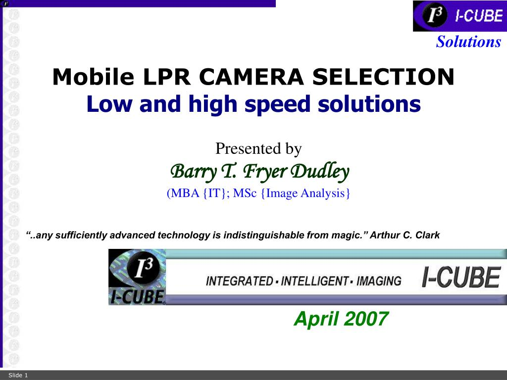 mobile lpr camera selection low and high speed solutions l.