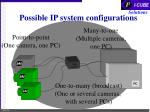 possible ip system configurations