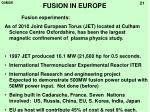 fusion in europe