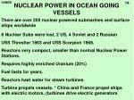 nuclear power in ocean going vessels