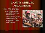 charity athelitc associations