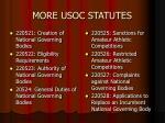 more usoc statutes