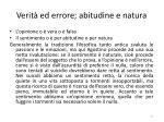 verit ed errore abitudine e natura