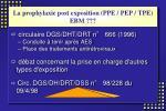 la prophylaxie post exposition ppe pep tpe ebm