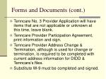 forms and documents cont