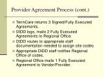 provider agreement process cont4