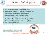 other nsse support