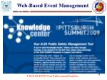web based event management