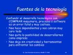 fuentes de la tecnolog a