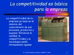 la competitividad es b sica para la empresa