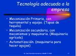 tecnolog a adecuada a la empresa17